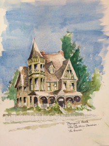 The Gaches Mansion, on the hill in La Conner, 11x14, framed $200